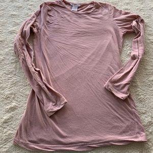 CAbi size Medium Blush pink long sleeve